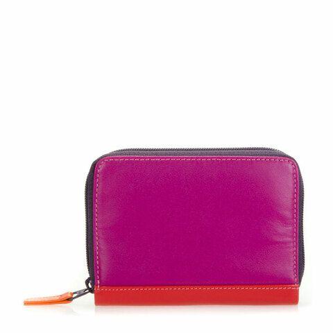Mywalit Zip Around Credit Card Holder Sangria Multi