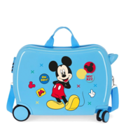 Disney Rolling Suitcase 4 Wheels Enjoy The Day Mickey Mouse Twister Light Blue