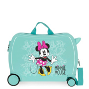 Disney Rolling Suitcase 4 Wheels Enjoy The Day Minnie Mouse Light Green