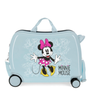 Disney Rolling Suitcase 4 Wheels Enjoy The Day Minnie Mouse Light Grey