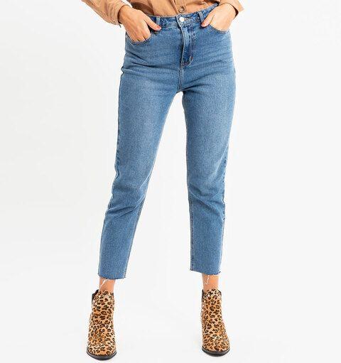 Mom Jeans - Blauw - maat XL - Elisestore
