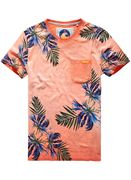 Superdry M10006F0 SUPERDRY CALIFORNIA TEE Print T-Shirt overdyed phosphorecent an9