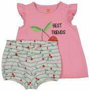 baby t-shirt en short roze