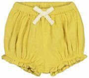 HEMA Baby Short Geel (geel)