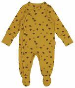 HEMA Newborn Jumpsuit Met Bamboe Geel (geel)