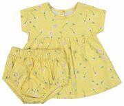 newborn set - tuniek en broek geel