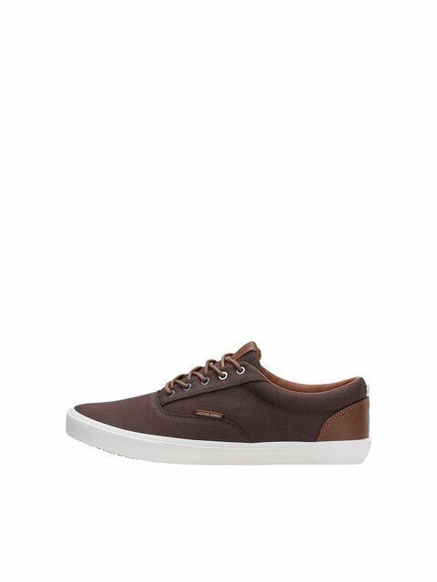 JACK & JONES Canvas Sneakers Heren Bruin