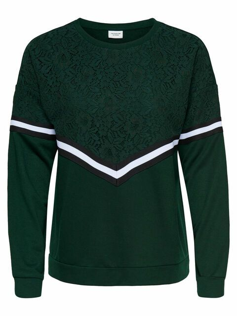 ONLY Kanten Sweatshirt Dames Green