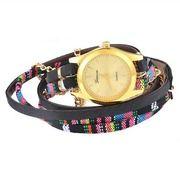 Geneva horloge Bohemian Wrap Goud Zwart