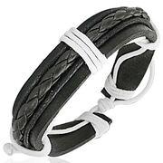 Leren armband Braided Wrap Rope FBK267