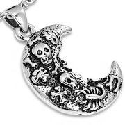RVS kettinghanger Biker Skull Cross Bones Scorpion Half-Moon