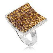 Dames ring 925 zilver Bruin
