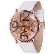 Womage Fashion horloge Big Dial Rose Wit