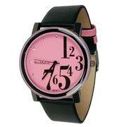 Womage Fashion horloge Roze Zwart