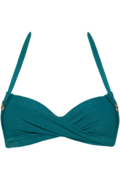 holi gypsy plunge balconette | wired padded sparkling teal green - 70C