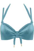 holi glamour push up | wired padded aqua blue - 75B