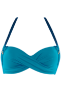 velvet kiss deep plunge balconette | wired padded ocean blue - 90D