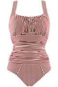 holi vintage unwired padded bathing suit   unwired padded red-ecru - XXL