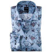 Olymp Modern Fit strijkvrij overhemd met bloemendessin