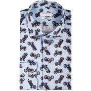 Giordano overhemd Modern Fit 827509 in het Licht Blauw
