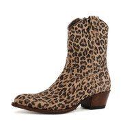 Sendra cowboy boot met panterprint