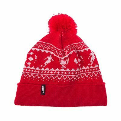 COPA Football - Nordic Knit Muts - Rood/ Wit