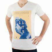 FootballCulture - Zlatan V-Neck T-shirt - White
