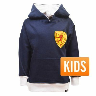 TOFFS - Schotland Kinderen Hooded Sweater - Navy/ Wit