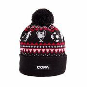 COPA Football - Nordic Knit Beanie - Zwart/ Rood/ Wit