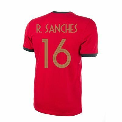 Portugal Retro Voetbalshirt 1960's + R. Sanches 16