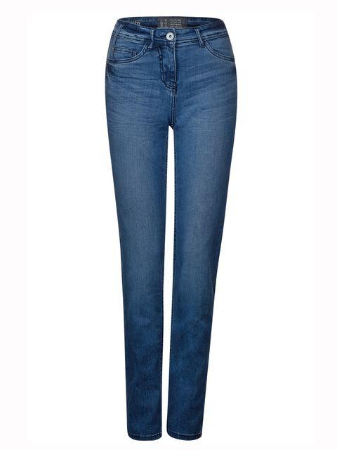 Stijlvolle jeans met strakke pasvorm - Blauw wash