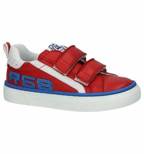 Romagnoli Donker Rode Schoenen met Klittenband