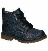 Bopy Sirgule Donkerblauwe Boots Rits/veter