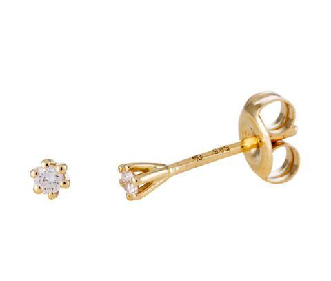 Glow Gouden Oorbellen Solitair met Diamant 0.064 ct 206.2002.00