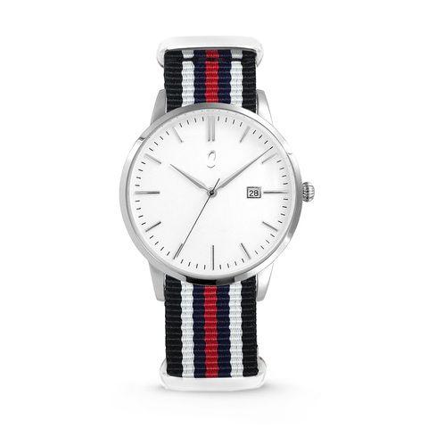 Colori Nato Connaisseur 5-COL495 - Horloge - nato - zwart/ wit/ blauw/ rood - ø 40 mm