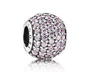 Pandora bedel zilver 'Roze Pav Ball' 791051PCZ