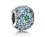 Pandora bedel Zilver 'Oceaanblauw' 791261MCZMX