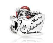 Pandora Bedel 'Kerstman op de Slee' 792004CZ
