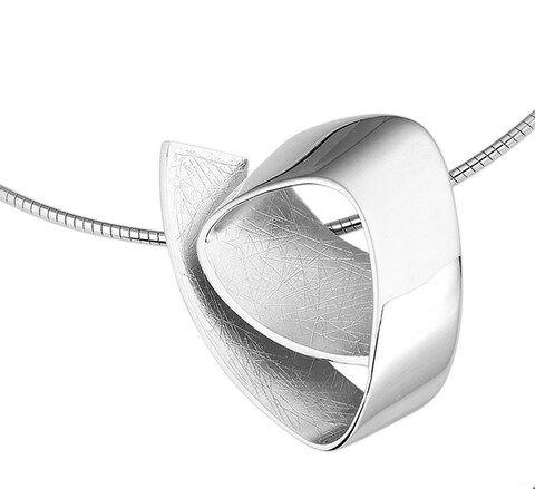 The Jewelry Collection Ketting Gescratcht 1,5 mm 42+3 cm - Zilver Gerhodineerd