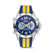 Colori Holland Sports 5-CLD134 - Horloge - nylon band - geel/blauw - 48 mm