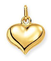 Glow Gouden Hanger/Bedel Hart 11 x 13 mm 230.0006.00