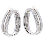 Zilveren Oorbellen klapcreolen met zirconia 107.5152.00