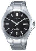 Pulsar Herenhorloge Zilverkleurig & Beschermde kroon PS9309X1
