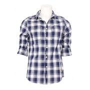 Guess overhemd - Indigo - Blauw/wit