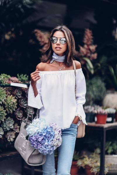 Get the look: off-shoulder