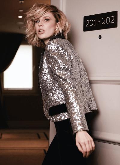 Een stralende outfit met glitter blazers