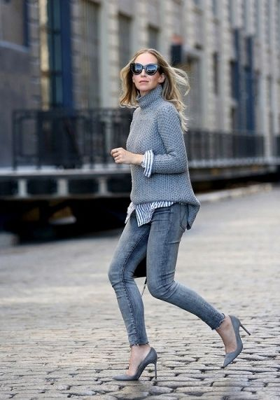 Get the look: Grey on grey