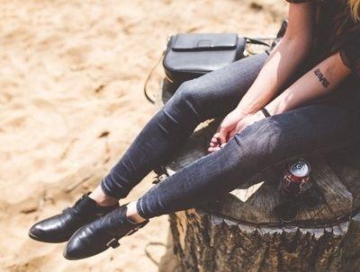 Schoenen met lage hak