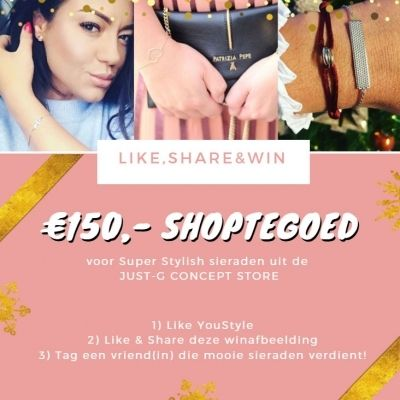 Win! €150,- shoptegoed bij Just G Concept Store