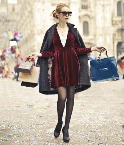 Fluwelen jurk: de trend!